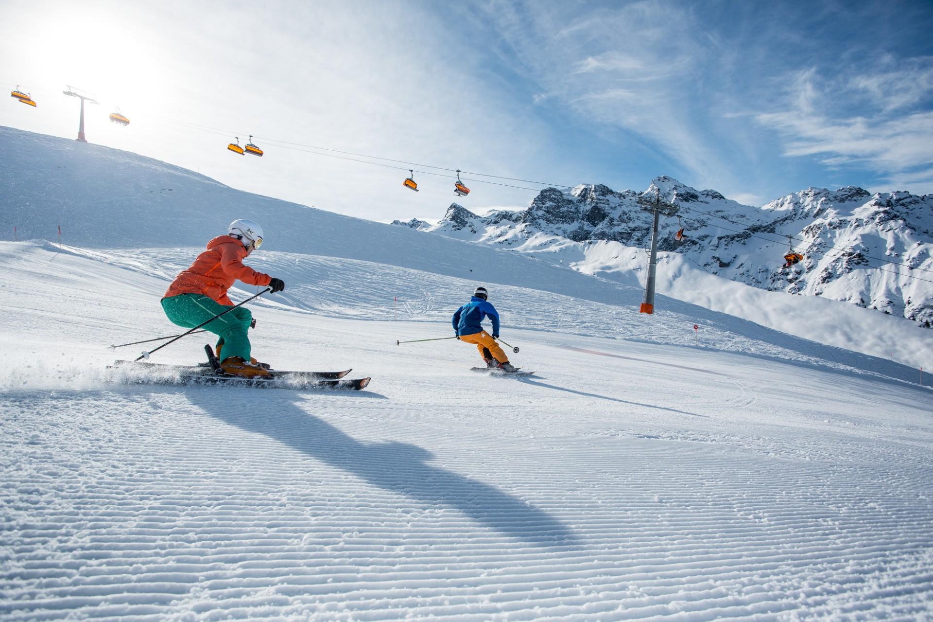 Skifahren im Montafon (c) Daniel Zangerl - Montafon Tourismus GmbH, Schruns